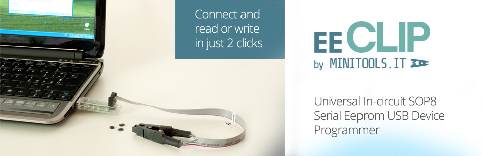 Connect EEClip programmer and read or write in just 2 clicks